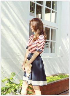 LOLOten - Mock-Two Piece Stripe Dress