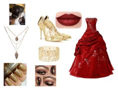 """""""Golden"""" by ohwhatshername on Polyvore featuring Oscar de la Renta and Charlotte Russe"""