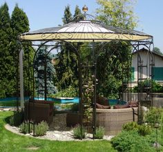 Erstaunlich Details Zu Gartenpavillon Metall Eisenpavillon Pavillon Schmiedeeisen  Rankpavillon