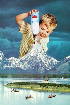 Snow Grey via Eugenia Loli Collage. Click on the image to see more!
