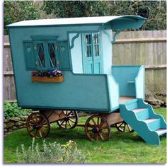 Gypsy caravan cubby @Melissa Head, maybe for the yard for kids to play!