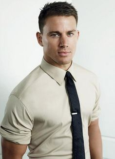 rolled up dress shirt=hot!