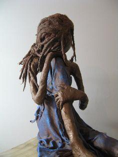 The Dreamer. Sculpture of dreamer. por Stephaniessculptures en Etsy