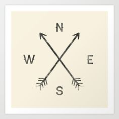 Compass (Natural) by Zach Terrell as a high quality Art Print. Free Worldwide Shipping available at Society6.com from 11/26/14 thru 12/14/14. Just one of millions of products available.