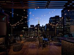 Upstairs at The Kimberly Hotel - Rooftop bar/lounge and restaurant with gorgeous views of midtown and the Chrysler building. The food menu is also quite tasty so you can ease from cocktails to dinner because you're not going to want to leave if it's a beautiful night. (Hotel rooftop/Midtown East)