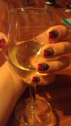 fancy red nail art