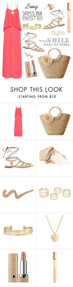 """""""Long Dress For Summer"""" by rasa-j ❤ liked on Polyvore featuring Needle & Thread, NARS Cosmetics, Stella & Dot, Finn, Marc Jacobs and Prada"""