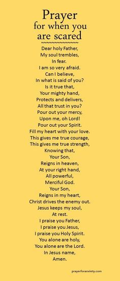 Prayer for when you are scared