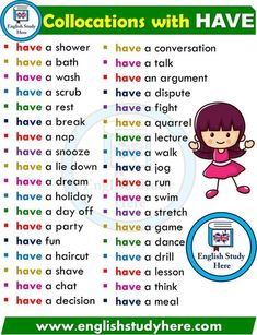 English Collocations HAVE in English – kmangong.