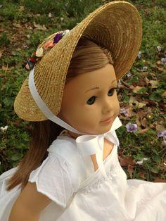 Doll Costume Accessory Elegant Straw Hat for 18 inch AG American Doll Doll