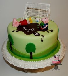 Peppa Pig and football - Cake by Marie