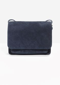 & Other Stories image 1 of Suede Messenger Bag in Navy