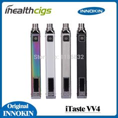100% Original Innokin iTaste VV4.0 battery 700mAh 1000mAh mod Innokin iTaste V4 VV 4.0 Adjustable Wattage ihealthcigs specification:1. Upgraded from VV 3.0, with higher output wattage up to 15W.2. Stainless steel battery body, made with exquisite workmanship.3. Customized high drain polymer li-ion rechargeable batter  #Vaping http://www.vaporgasme.com/produk/100-original-innokin-itaste-vv4-0-battery-700mah-1000mah-mod-innokin-itaste-v4-vv-4-0-adjustable-wattage-ihealthcigs