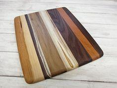 Wood Cutting Board Random Layout Walnut Cherry & by foodiebords, $29.73