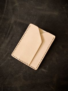 """Bas and Lokes Handmade Leather Goods - """"Rex"""" Natural Vegetable Tanned Handmade Leather Slim Wallet Sleeve, $65.00 (http://www.basandlokes.com/rex-natural-vegetable-tanned-handmade-leather-slim-wallet-sleeve/)"""