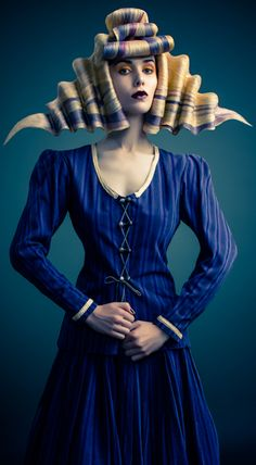 Hair Art / avant garde hair This reminds me of ribbon candy. Creative Hairstyles, Cool Hairstyles, Avant Garde Hairstyles, Angelo Seminara, Editorial Hair, Beauty Editorial, Fantasy Hair, Fantasy Makeup, Hair Shows