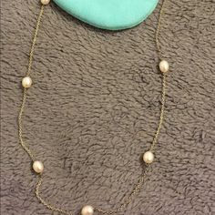 Tiffany & Co Pearls by the Yard silver necklace 16 inches long. Great condition. Pouch included Tiffany & Co. Jewelry Necklaces