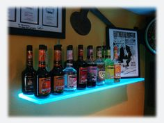 lighted shelves - future idea for the game room