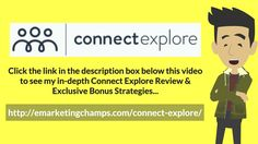 Connect Explore Review - https://www.youtube.com/watch?v=rm_Iu_XJjvU - Connect Explore Bonus - Tip #20 – Promote Your  Twitter Lastly on twitter's tips and tricks, you also have to promote your twitter account. You can include this in your website's main page or contact page. You can include this on your email signature and even promote it on other social networking sites.