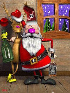 Merry Christmas -- Santa and Deer Christmas Lights Etc, Merry Christmas Santa, Christmas Scenes, Christmas Quotes, Christmas Music, Christmas Pictures, All Things Christmas, Christmas Holidays, Christmas Cards