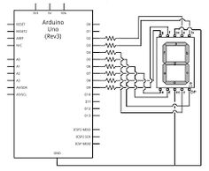 Image result for 4 digit 7 segment display pin