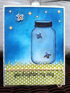Summer Card: Fireflies in the Sky | Paper Pipedreams