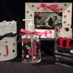 Monograms and Dots...we give you the supplies and you bling up your own item!  Fun and affordable gift.