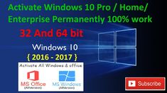 Activate Windows 10 Pro | Home | Enterprise | Permanently 100% work all ...