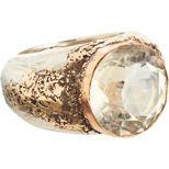 Sandra Dini Rutilated Quartz Ring 12k gold ring set with rutilated quartz.