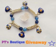 """Free Giveaway: Star & Moon Purse Celestial Charm chainmaille Dangle Bracelet sz 8 """"Must be a FAN to enter""""   Enter Here: http://www.giveawaytab.com/mob.php?pageid=657121534343446"""