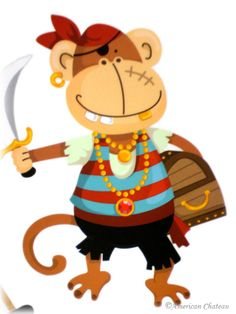 Monkey Pirate wall decals