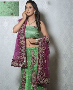 Buy Exquisite Green Lehenga Choli online at $266.13 [ADF30482]