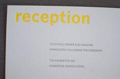 "Our Wedding: DIY ""Letterpress"" Wedding Invitations - Modernly Wed"