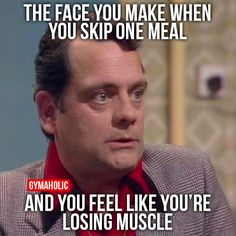 The Face You Make When You Skip One Meal  And you feel like you're losing muscle.  More motivation -> http://www.gymaholic.co  #fit #fitness #fitblr #fitspo #motivation #gym #gymaholic #workouts #nutrition #supplements #muscles #healthy