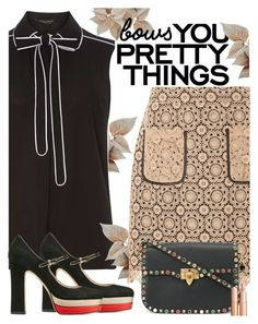 """Put a Bow on it!"" by juliehooper ❤ liked on Polyvore featuring Dorothy Perkins, Valentino, Charlotte Tilbury and bows"