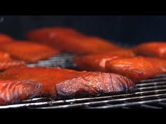 """To Smoke Salmon The Chef Way Chef Jason Hill shows you how to make smoked salmon in this episode of """"Chef Tips."""" This smoked salmon recipe is a """"hot smoked salmon,"""" made by smoking salmon over low heat on the Green Mountain Grills pellet grill. Traeger Recipes, Grilling Recipes, Fish Recipes, Meat Recipes, Seafood Recipes, Grilling Ideas, Smoked Salmon Brine, Smoked Salmon Recipes, Cheese"""