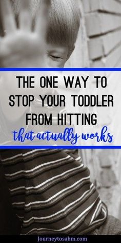 Toddler hits mom? Learn the best way to stop toddler hitting in an easy way. Includes toddler hitting tips and how to stop the behavior. #toddler #momlife #parenting