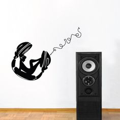 chill chick on headphones wall decal trendy wall designs: sun wall decal trendy designs