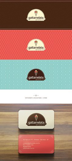 Gattamelata Gelateria on Behance