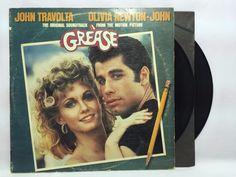 Grease Original Soundtrack LP Vinyl #Records RSO RS-2-4002