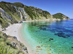 Tuscany's Elba Island is home to many gorgeous beaches, but Sansone might just top the list. Its pristine shore—a mixture of white sand and smooth white pebbles—leads you to the most transparent water you might ever see. It's shallow, too, so it's popular with families and for snorkeling.