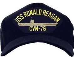 USS Ronald Reagan CVN-76 Emblematic Ball Cap Uss Ronald Reagan, Nancy Reagan, Navy Day, Us Navy, Uss Gerald R Ford, Uss Theodore Roosevelt, Uss Nimitz, New Aircraft, Daddy Birthday
