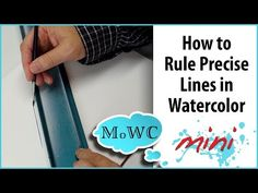 How to Rule Precise Straight lines in Watercolor - YouTube