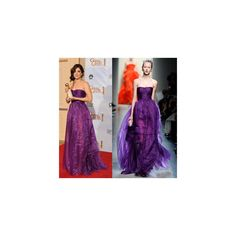 Purple Reigns the Red Carpet in 2010 found on Polyvore