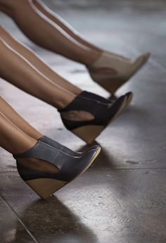 8ebd45406ade Pointed toe wedged booties are great to create longer leglines for petites  - especially paired with