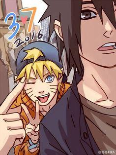 Uzumaki Naruto and Uchiha Sasuke.