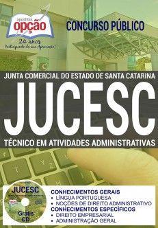 Apostila JUCESC Técnico em Atividades Administrativas PDF Download Digital