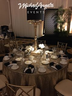We love to theme our parties! MichaelAngelos Events can transform your space into Jay Gatsby's house.