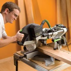 When looking for a good miter saw, you can never go wrong with the Festool Kapex KS 120 sliding compound miter saw. This saw provides with an accurate way of cutting lumber effortlessly. Sliding Mitre Saw, Sliding Compound Miter Saw, Compound Mitre Saw, Festool Kapex Ks 120, Festool Tools, Rockler Woodworking, Woodworking Supplies, Woodworking Tools, Mitre Saw Station