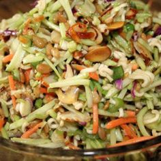 Oriental Ramen Broccoli Cole Slaw. Cut out the sugar totally! Play with this recipe.